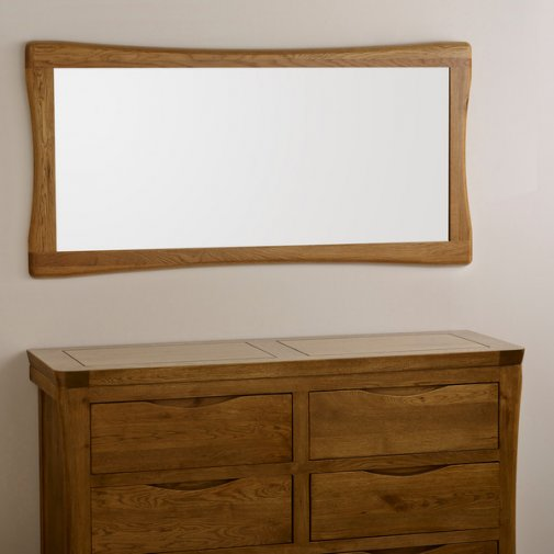 Orrick Rustic Solid Oak 1200mm x 600mm Wall Mirror