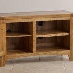 Orrick Rustic Solid Oak Small TV Cabinet - Thumbnail 4
