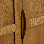 Orrick Rustic Solid Oak Double Wardrobe - Thumbnail 3