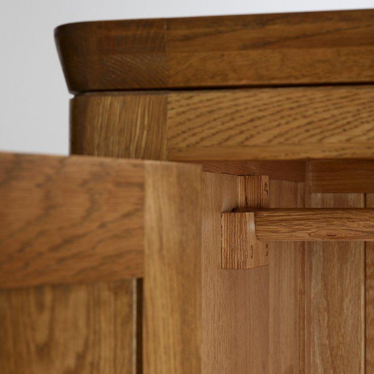 Orrick Rustic Solid Oak Double Wardrobe