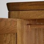 Orrick Rustic Solid Oak Double Wardrobe - Thumbnail 4