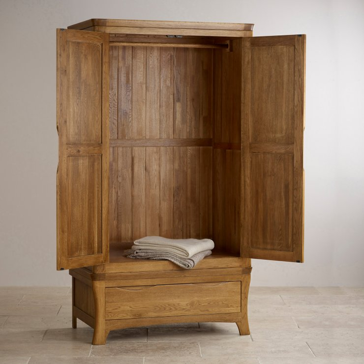 Orrick Double Wardrobe In Rustic Oak
