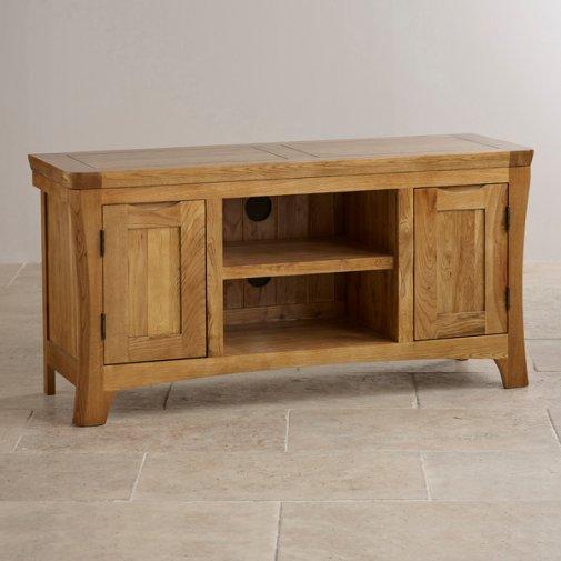 Orrick Rustic Solid Oak Large TV Cabinet