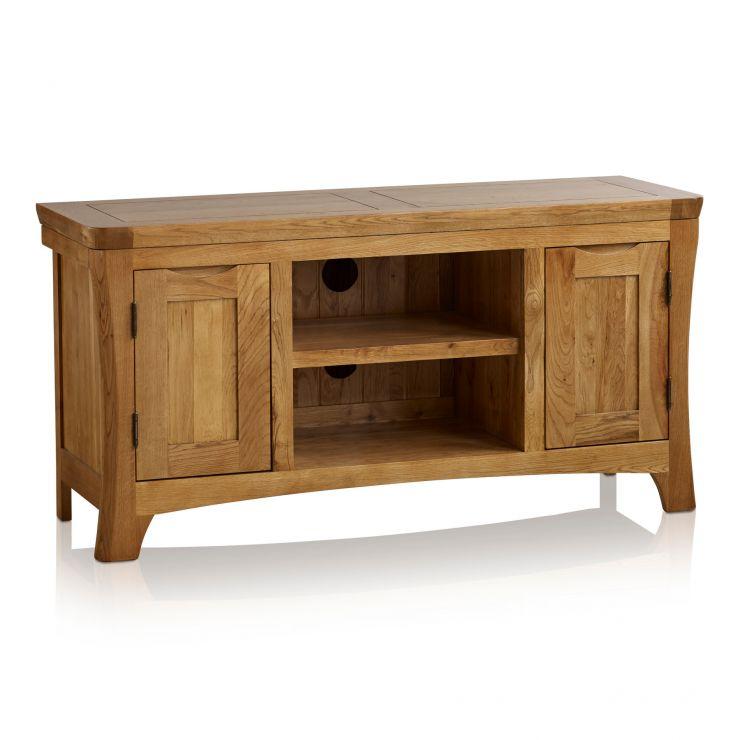Orrick Rustic Solid Oak Large TV Cabinet - Image 5