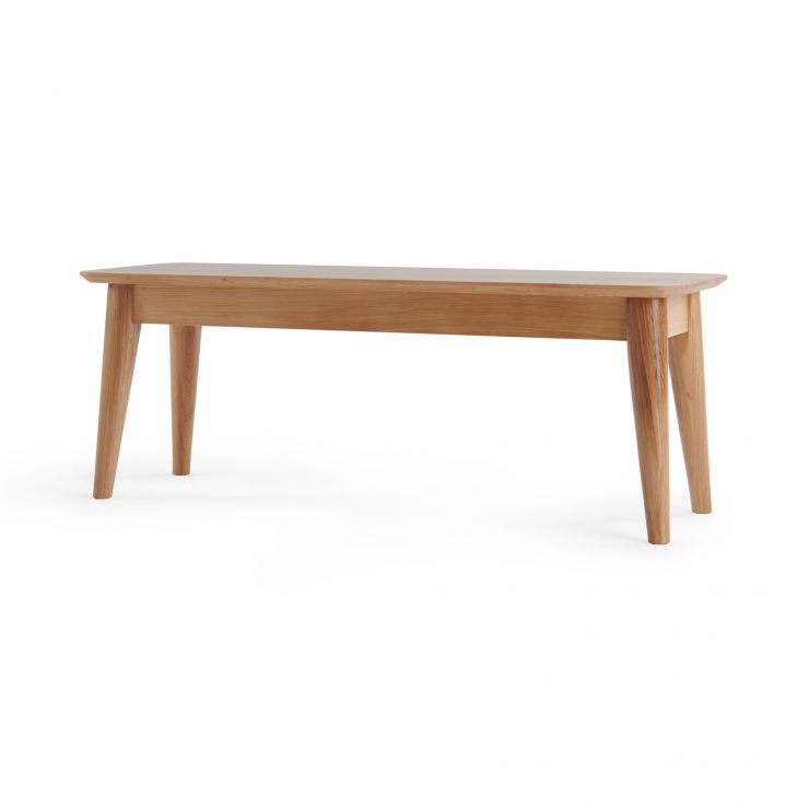 Oscar Natural Solid Oak 4ft Bench