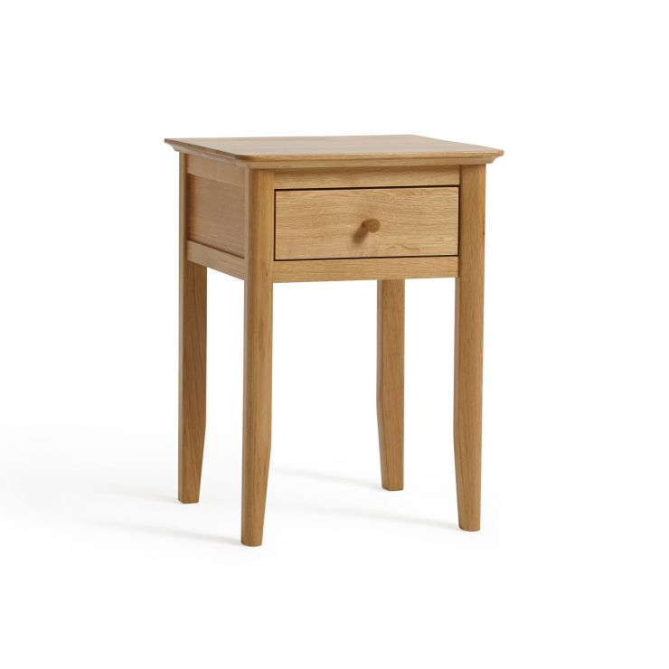 Oslo Natural Solid Oak 1 Drawer Bedside Table