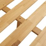 Oslo Natural Solid Oak Double Bed - Thumbnail 4
