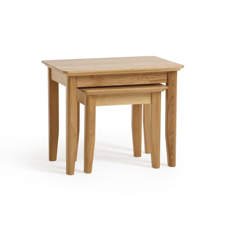 Oslo Natural Solid Oak Nest of 2 Tables
