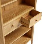 Oslo Natural Solid Oak Tall Bookcase - Thumbnail 6