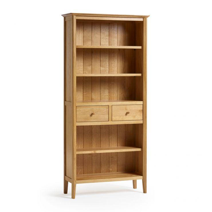 Oslo Natural Solid Oak Tall Bookcase