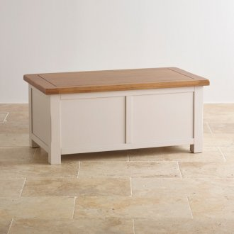 Kemble Rustic Solid Oak and Painted Blanket Box