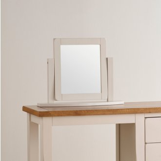 Kemble Rustic Solid Oak and Painted Dressing Table Mirror