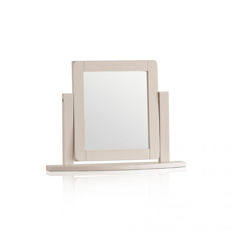 Kemble Rustic Solid Oak and Painted Dressing Table Mirror - Image 4