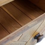 Parquet Brushed and Glazed Oak 1 Drawer Bedside Table - Thumbnail 2