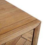 Parquet Brushed and Glazed Oak 1 Drawer Bedside Table - Thumbnail 6