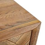 Parquet Brushed and Glazed Oak 2+3 Chest of Drawers - Thumbnail 4