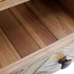 Parquet Brushed and Glazed Oak 2+3 Chest of Drawers - Thumbnail 3