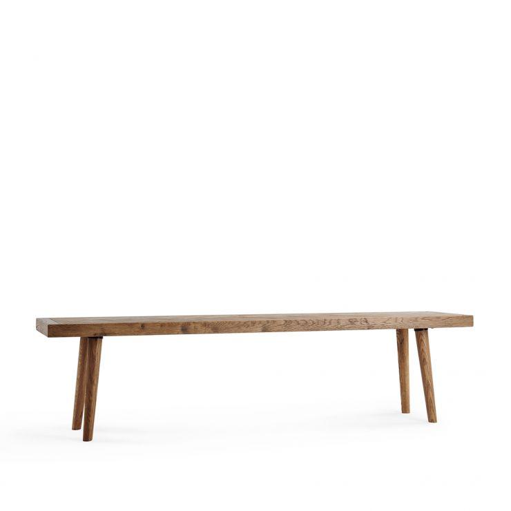 Parquet Brushed and Glazed Oak Bench