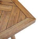 Parquet Brushed and Glazed Oak Bench - Thumbnail 3