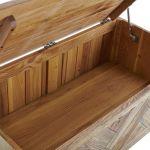 Parquet Brushed and Glazed Oak Blanket Box - Thumbnail 6