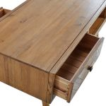 Parquet Brushed and Glazed Oak Coffee Table - Thumbnail 5
