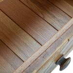 Parquet Brushed and Glazed Oak Coffee Table - Thumbnail 6