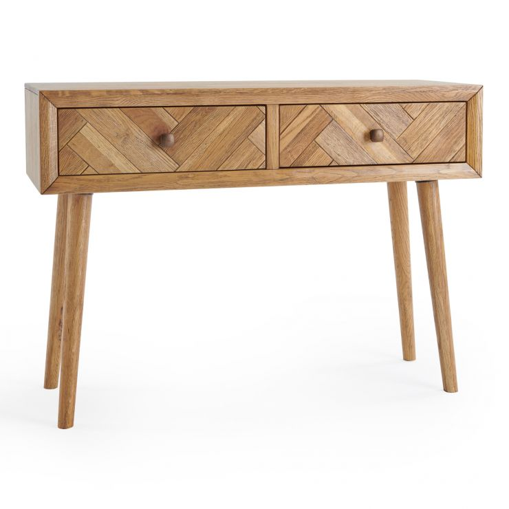 Parquet Brushed and Glazed Oak Console Table
