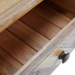 Parquet Brushed and Glazed Oak Console Table - Thumbnail 6