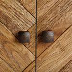 Parquet Brushed and Glazed Oak Corner Sideboard - Thumbnail 2