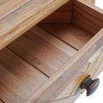 Parquet Brushed and Glazed Oak Corner Sideboard - Thumbnail 5