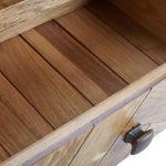 Parquet Brushed and Glazed Oak Corner TV Unit - Thumbnail 2