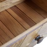 Parquet Brushed and Glazed Oak Corner TV Unit - Thumbnail 4