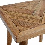 Parquet Brushed and Glazed Oak Dressing Stool - Thumbnail 4