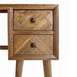 Parquet Brushed and Glazed Oak Dressing Table - Thumbnail 4