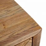 Parquet Brushed and Glazed Oak Dressing Table - Thumbnail 6