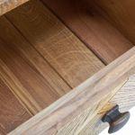 Parquet Brushed and Glazed Oak Dressing Table - Thumbnail 5