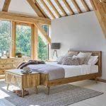 Parquet Brushed and Glazed Oak King-Size Bed - Thumbnail 1