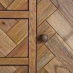 Parquet Brushed and Glazed Oak Large Dresser - Thumbnail 5