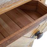 Parquet Brushed and Glazed Oak Large Dresser - Thumbnail 6