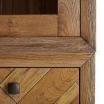 Parquet Brushed and Glazed Oak Large Dresser - Thumbnail 7