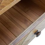 Parquet Brushed and Glazed Oak Large Sideboard - Thumbnail 3