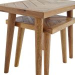 Parquet Brushed and Glazed Oak Nest of 2 Tables - Thumbnail 6