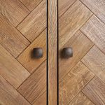 Parquet Brushed and Glazed Oak Small Sideboard - Thumbnail 2