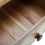 Parquet Brushed and Glazed Oak Small Sideboard - Thumbnail 5