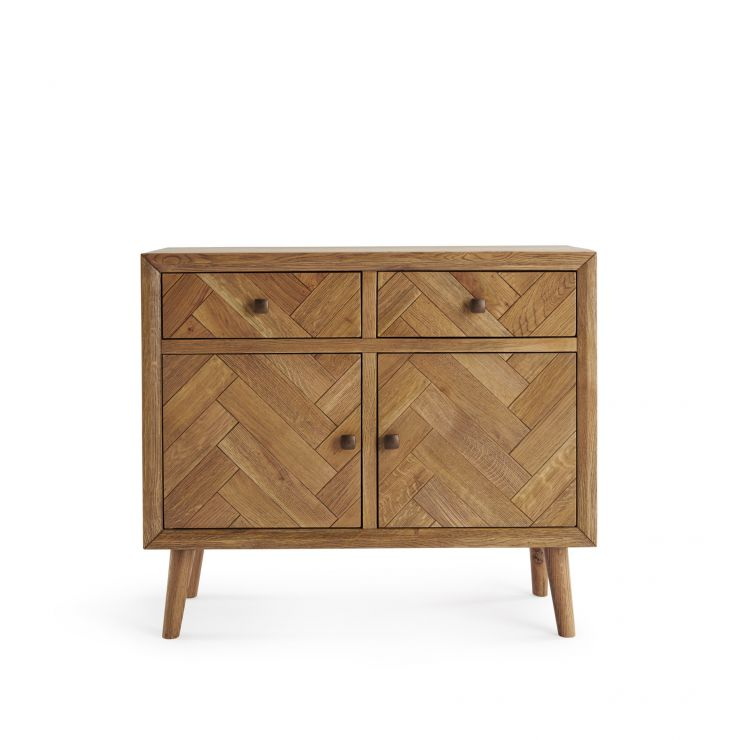 Parquet Brushed and Glazed Oak Small Sideboard