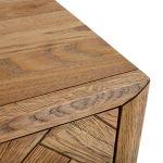 Parquet Brushed and Glazed Oak Tallboy - Thumbnail 4