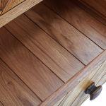 Parquet Brushed and Glazed Oak Tallboy - Thumbnail 3