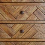 Parquet Brushed and Glazed Oak Tallboy - Thumbnail 2