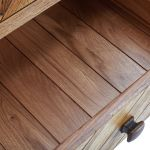 Parquet Brushed and Glazed Oak Tallboy - Thumbnail 6