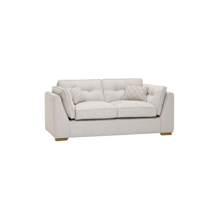 Pasadena 2 Seater High Back Sofa in Denzel Pebble with Blockbuster Honey Scatters - Image 11